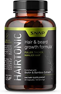 Hair Growth Supplement for Men - Hair Skin and Nails - Hair Loss Supplement with Biotin, Keratin, Bamboo - 60 Capsules
