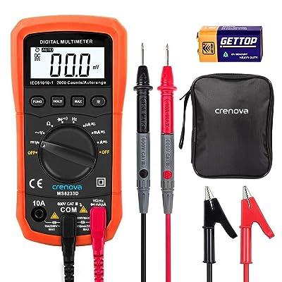 Crenova MS8233D Auto-Ranging Digital Multimeter Home Measuring Tools