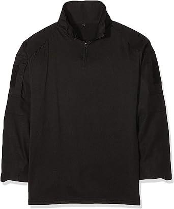Original Miltec Camisa de Campo Ejército Camisa Negra 100% Algodón - M: Amazon.es: Ropa y accesorios