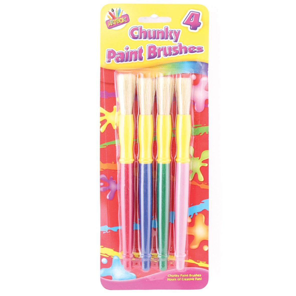 Artbox Chunky Plastic Handle Brush (Pack of 4) Tallon International Ltd 5123