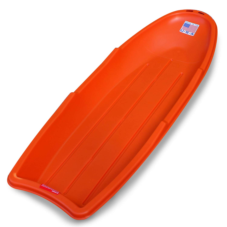 Flexible Flyer Lightning Snow Sled for Kids & Adults. Plastic Toboggan Sand Slider 48