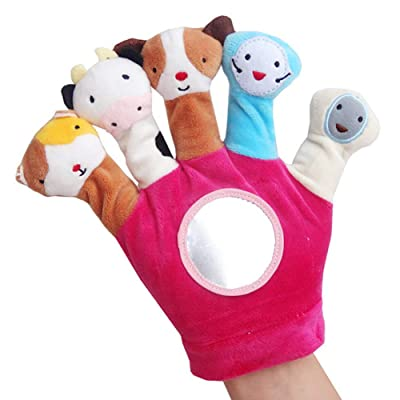 RONSHIN Winter Gloves for Infant 0-1 Years Old Baby Fabric Finger Doll Newborns Animal Hand Puppet Gloves Play Toys red: Sports & Outdoors