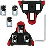 Anpro クリートセットセルフアライニングモード ペア 9度フロート自転車用 SH-11 SPD-SL 赤