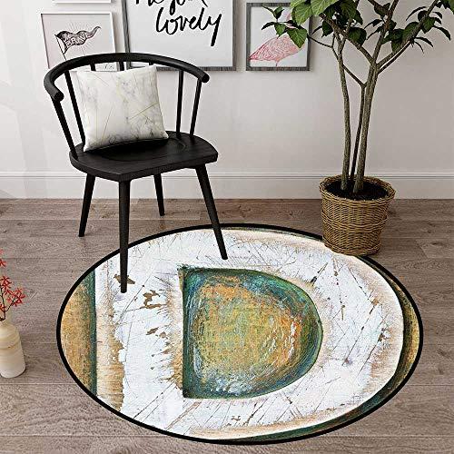 Round Floor mat Office Chair Carpet Round Indoor Floor mat Entrance Circle Floor mat for Office Chair Wood Floor Circle Floor mat Office Round mat for Living Room Pattern 2' Diameter