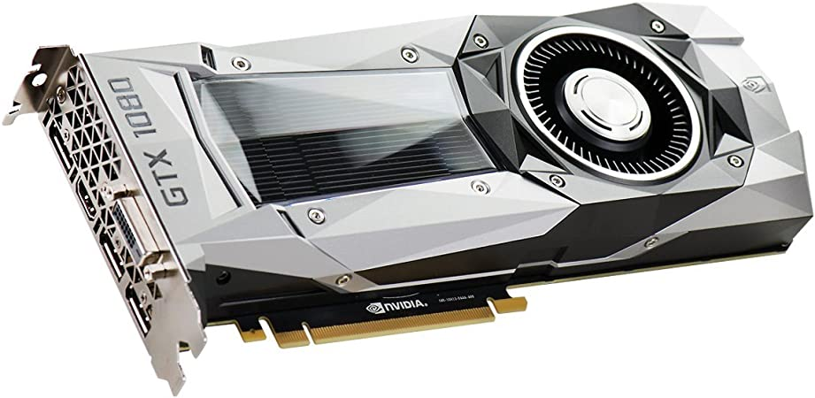 EVGA GeForce GTX 1080 Founders Edition, 8GB GDDR5X, LED, DX12 OSD Support (PXOC) Graphics Card 08G-P4-6180-KR