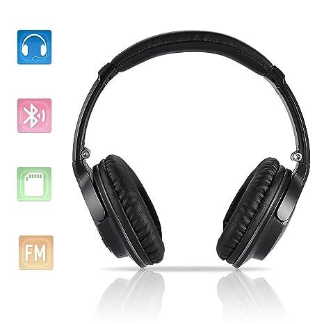 Auriculares Cerrados, Auriculares de Diadema Cerrados Bluetooth Inalámbricos, Plegables y Ligeros Headphones con reducción