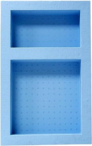 Tile Waterproof Leak Proof Recessed Shower Niche- Bathroom Shelf Organizer Storage for Shampoo Toiletry Storage Flush Mount Installation Double, Blue