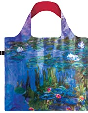 LOQI LQB1-MUMOWL Museum Shopping Bag, Water Lilies, L Capacity