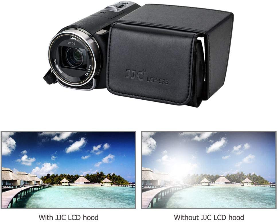 JJC Camcorder 3.5 LCD Screen Hood for Sony FDR-AX700 AX100 PXW-X70 Z150 Z90V FS7 Z280 HXR-NX100 NX200 NX80 Canon VIXIA HF G20 G30 G40 GX10 XA30 XA20 XF400 XF200 Panasonic AG-UX180 AG-DVX200 HC-X1000