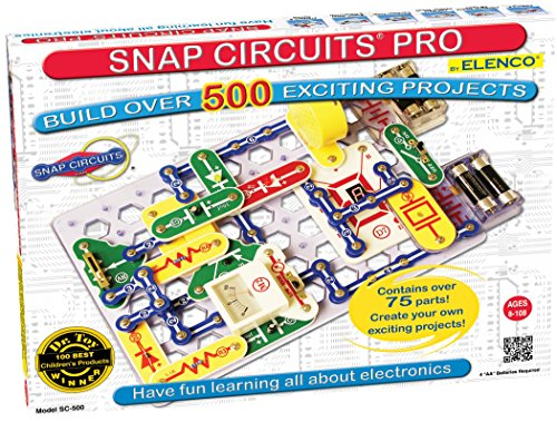 Snap Circuits PRO SC-500 Electronics Exploration Kit | Over 500 STEM Projects | 4-Color Project Manual | 75+ Snap Modules | Unlimited -