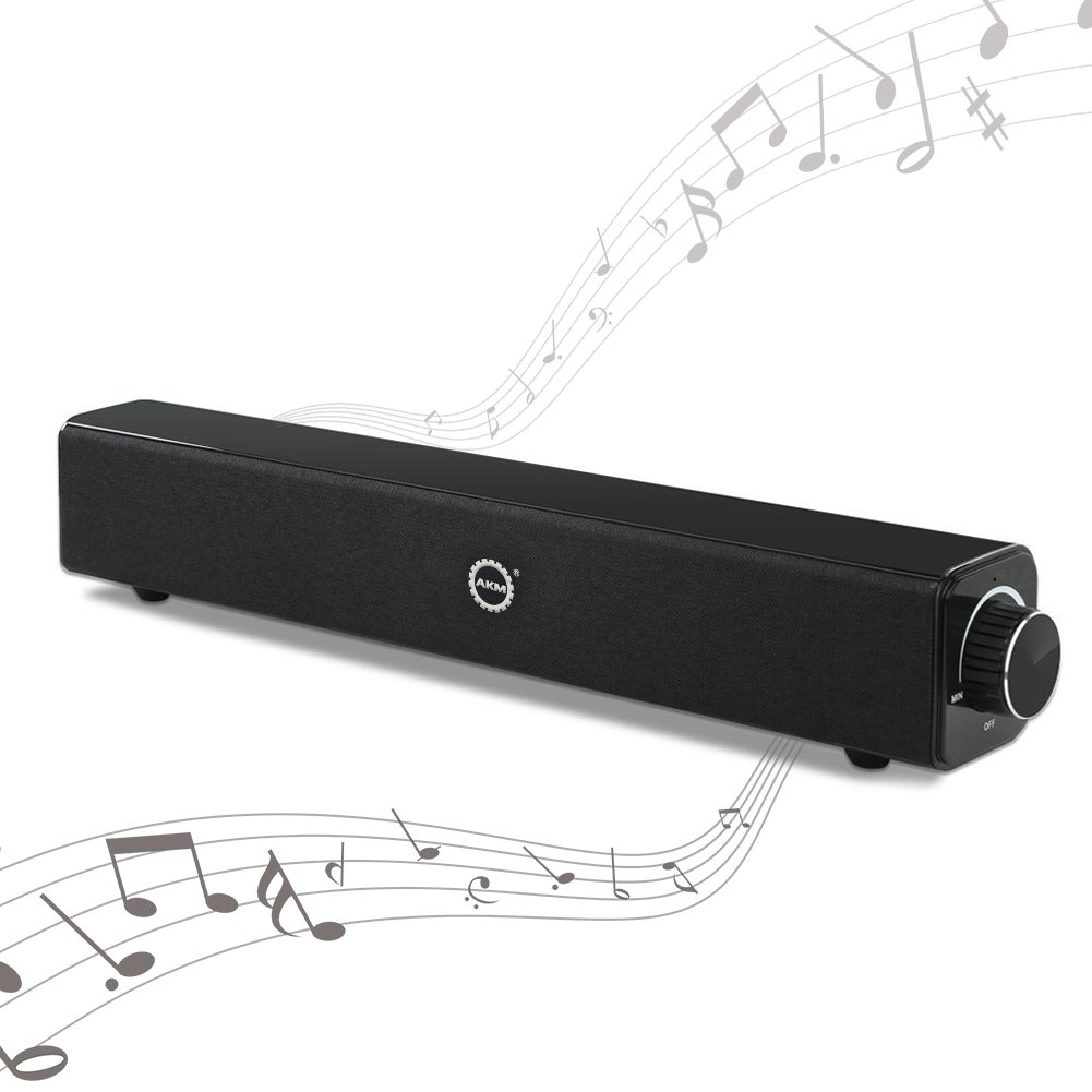 Sound Bar Wired and Wireless Bluetooth Audio Double Bass Speakers Home Theater Surround Sound Bar for TV,PC,Cellphone