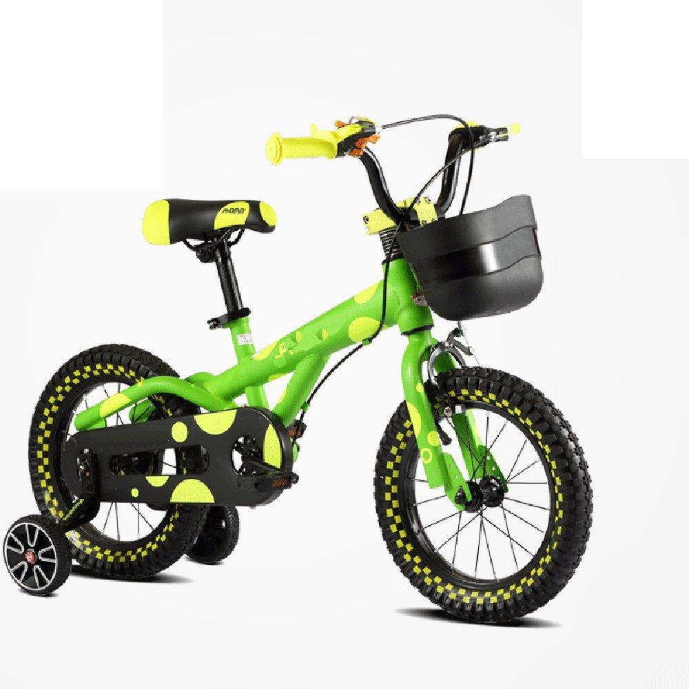 マチョン 自転車 子供用自転車12/14/16インチ男性と女性のモデルベビーベビーカーの自転車の男の子の自転車 B07DS81K2J 14 inches|緑 緑 14 inches