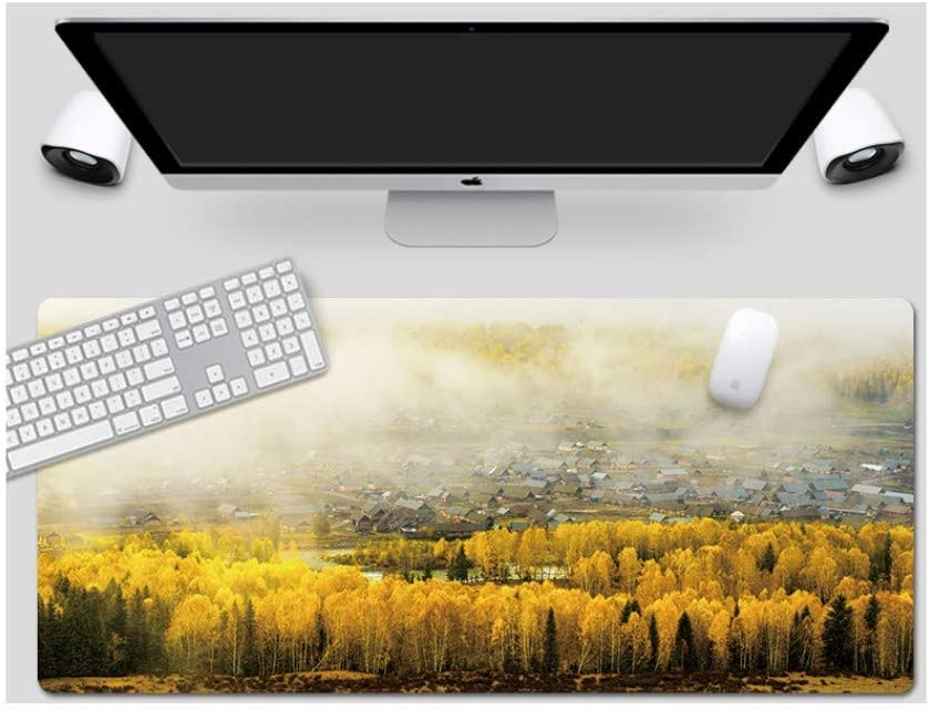 Xinjiang Hemu Style Desk Pad Large Padded Waterproof Non-Slip Keyboard Pad Suitable for Desktop Computer//Notebook,900x400mmx5mm Mouse Pad