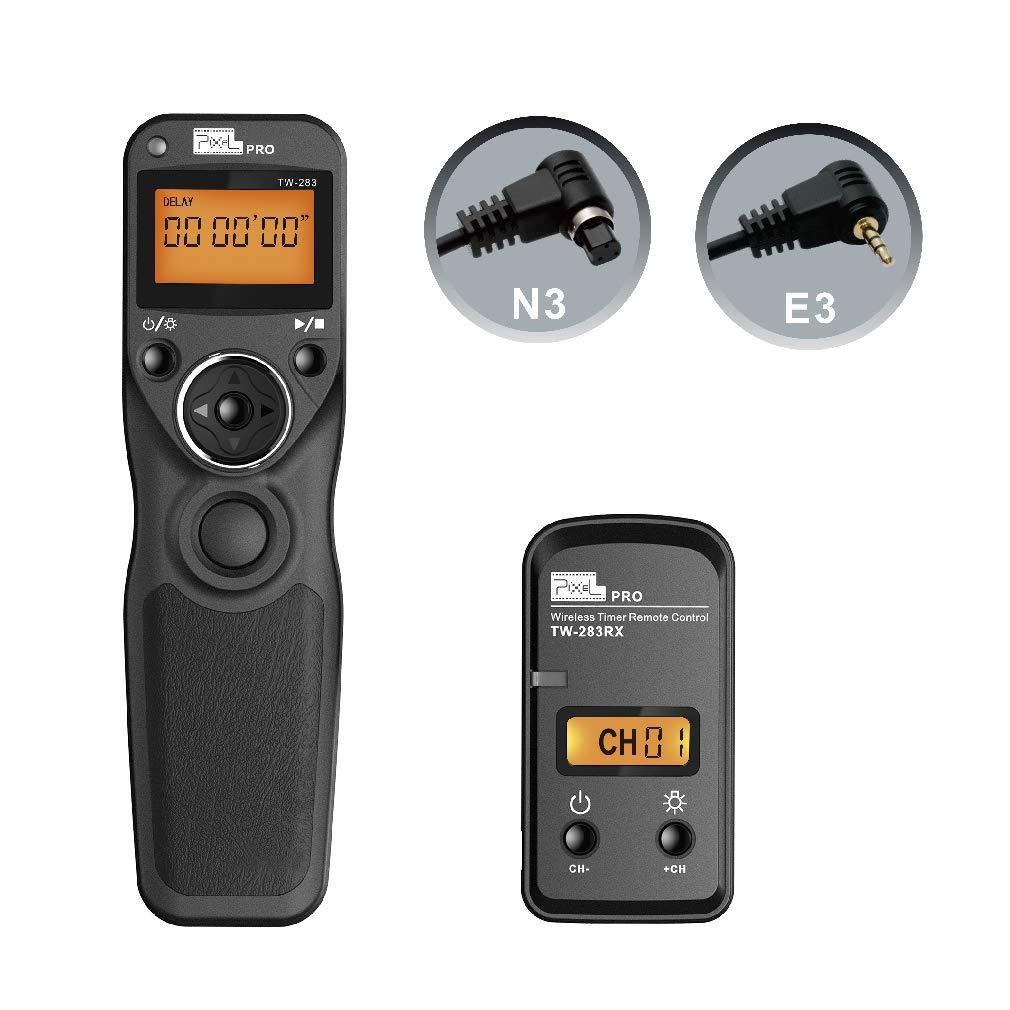 Wireless Shutter Release for Canon, Pixel TW-283 E3/N3 Wireless Remote Control Timer Shutter Release Cable for Canon EOS R EOS RP 1300D 1100D760D 750D 70D 80D 90D 5D IV III 1D 6D 7D fujifilm GFX50R by PIXEL
