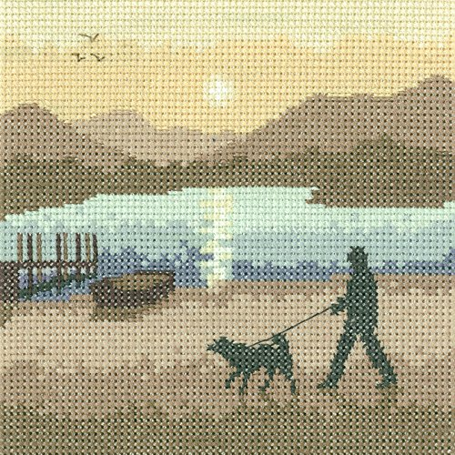Heritage Crafts Sunset Stroll Cross Stitch - Heritage Crafts Kit