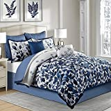 Indigo 8-Piece Full Comforter Set in Blue