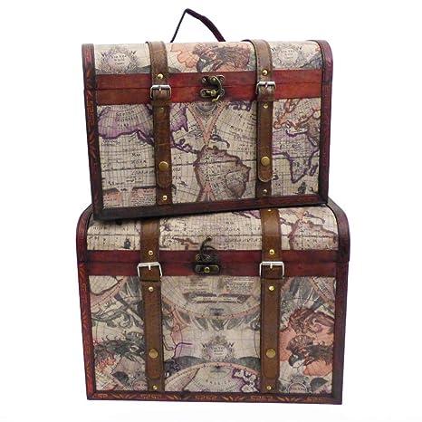 De lujo de almacenamiento de tronco de madera caja de regalo caja de regalo - Ideas