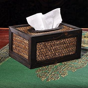 XBR Hechos a Mano de bambú creativos de Toalla de Papel Caja Caja Home Furnishing Upscale Hotel: Amazon.es: Hogar