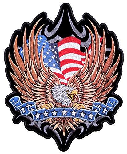 Leather Supreme Medium American Flag Eag - Motorcycle Biker Eagle Jacket Shopping Results