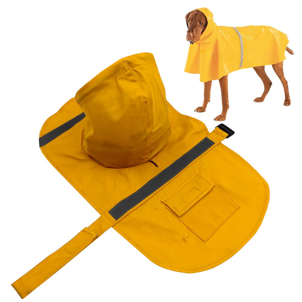 Dog Raincoat Rain Jacket With Hood Protects Against Water, Wind, Snow
