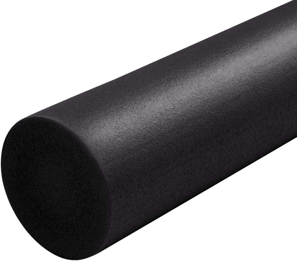Foam Roller Espuma EPE Negro 15 x 90 cm Nishore Rodillo de Yoga