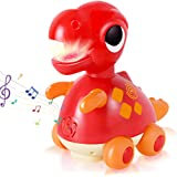 iPlay, iLearn Baby Musical Toy, Electronic Dino Moving Toys W/ Light & Sound, Crawling Cognitive Learning Development Birthda