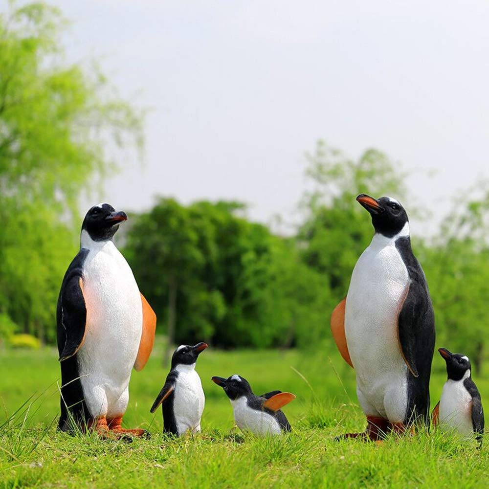 Style 1 Danmu 1pc Polyresin Penguin Statue for Garden Indoor Outdoor Decoration