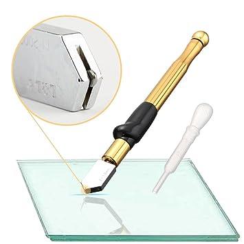 Herramienta profesional de cortador de vidrio con mango de aleación de tungsteno y carburo con rango de 2-19mm Autocebado para botella de vidrio ...