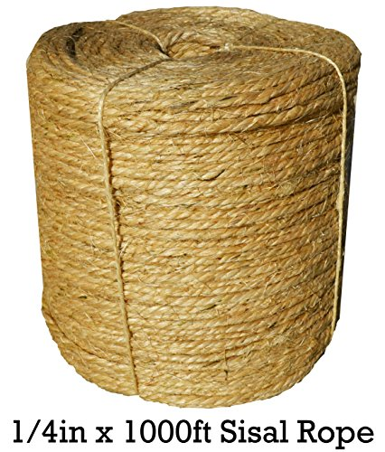 Sisal Rope Twine 1 4 Inch X 1000 Ft Bulk Wholesale
