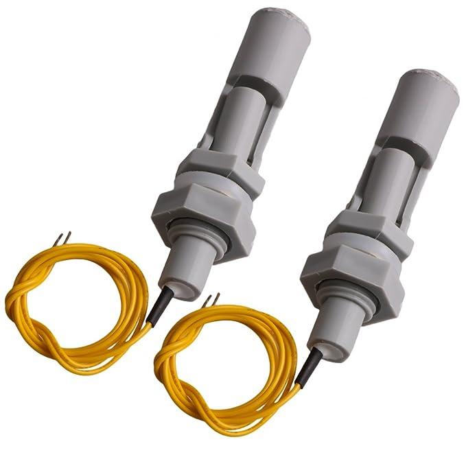 2 piezas - Sensor interruptor de nivel de agua, con flotador, apto para aplicaciones en acuarios, jardinería, hidroponía: Amazon.es: Coche y moto