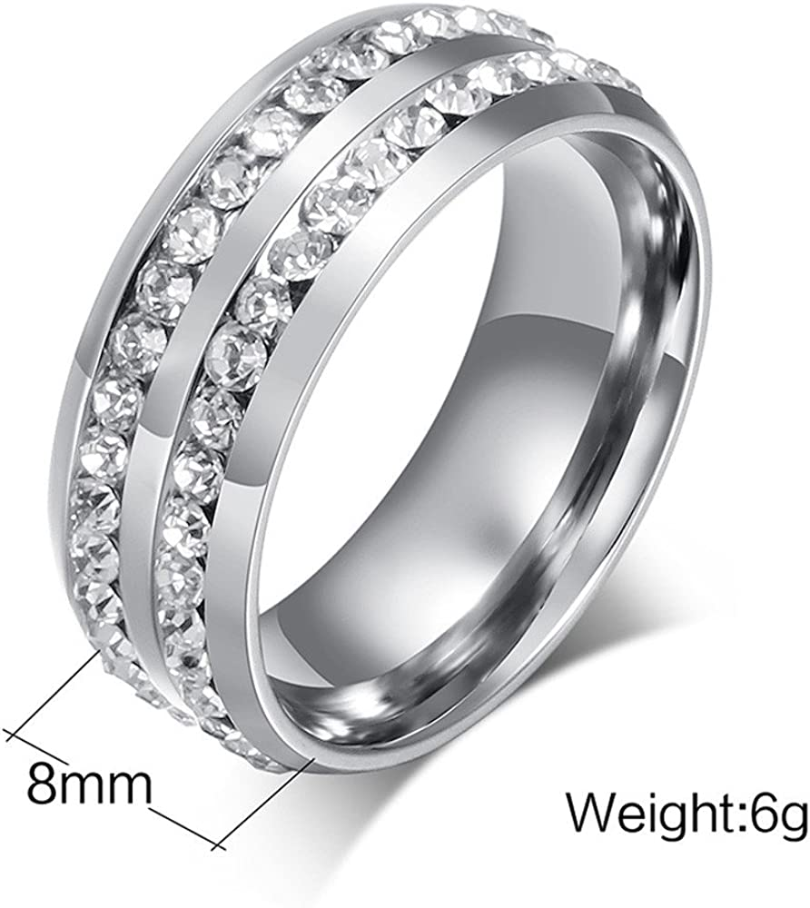 Eternity Rings,Keepfit Fashion Personality Heart Shape Rhinestone Ring