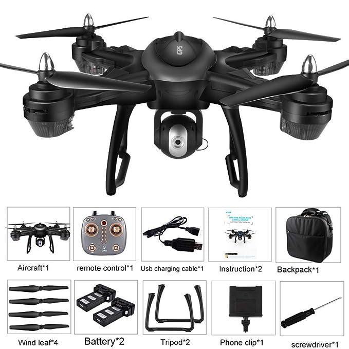 Juguetes para niños 3-10 años Yesmile 🌲 LH-X38G Doble GPS FPV con cámara HD 1080P WiFi RC Drone Quadcopter + Mochila: Amazon.es: Hogar
