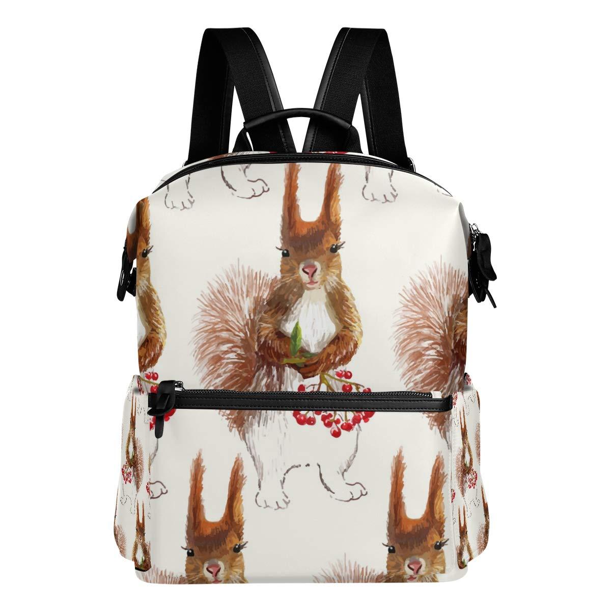 TIZORAX Squirrels Cherry Painting diseño - Mochila Escolar, diseño Painting de Cerezas, para niños y niñas 0a4c5d