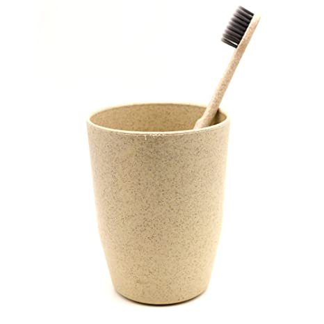 Paja de trigo Gargle Cup Holder cepillo de dientes medio ambiente Biodegradable taza + paja cepillo