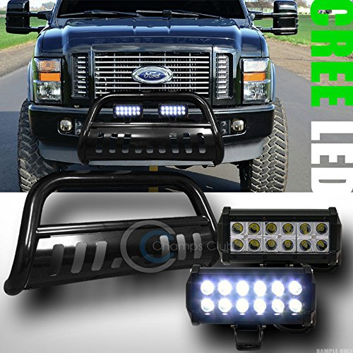 Velocity Concepts BLK Bull BAR Bumper Grill Guard+36W CREE LED Fog Lights LAMP 2008-2010 F250/F350