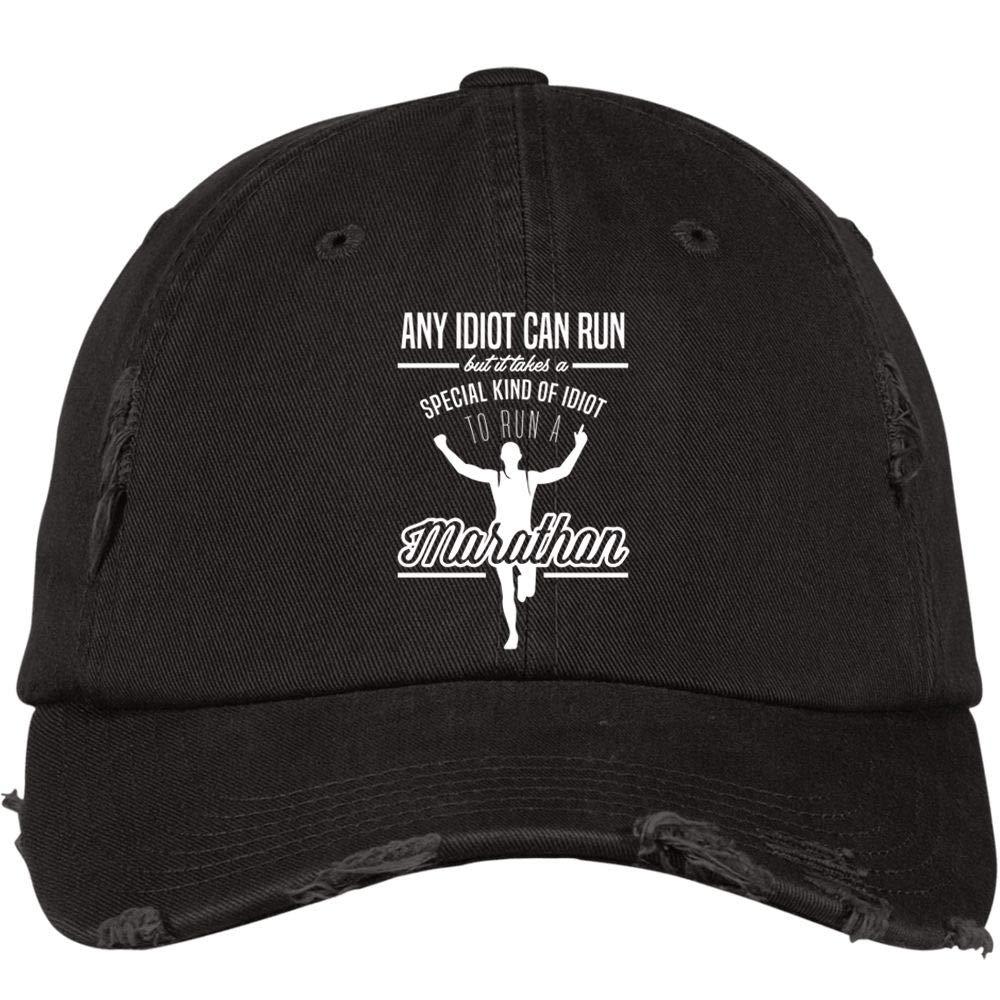 Marathon Running Hat I Love Marathon District Distressed Dad Cap