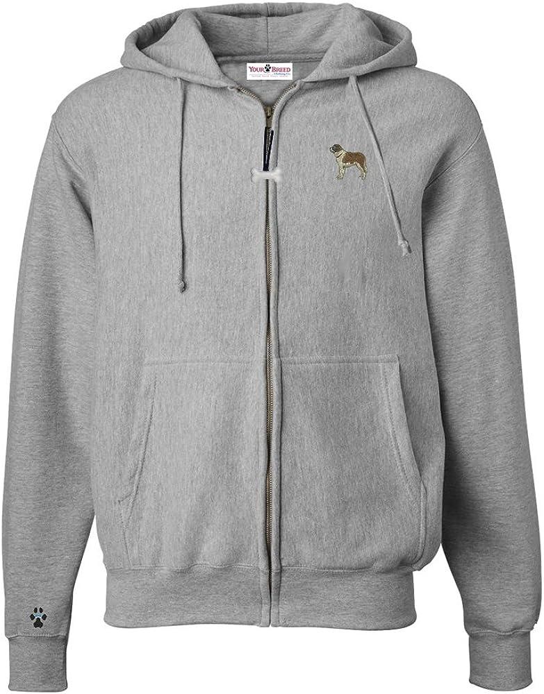 Bernard Mens Full Zip Hooded Sweatshirt with Embroidered /& Bone Zipper Pull St