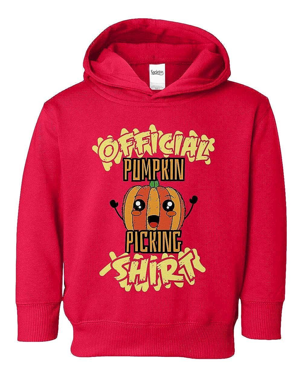 Societee Official Pumpkin Picking Girls Boys Toddler Hooded Sweatshirt