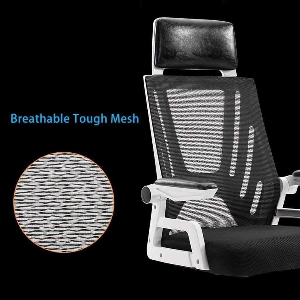 DBL Hög rygg kontor uppgift dator stol nät svängbar justerbar ergonomisk ländrygg stöd med säte svängstol räcke 300 kg bärkapacitet skrivbordsstolar (färg: Färg D) Color D