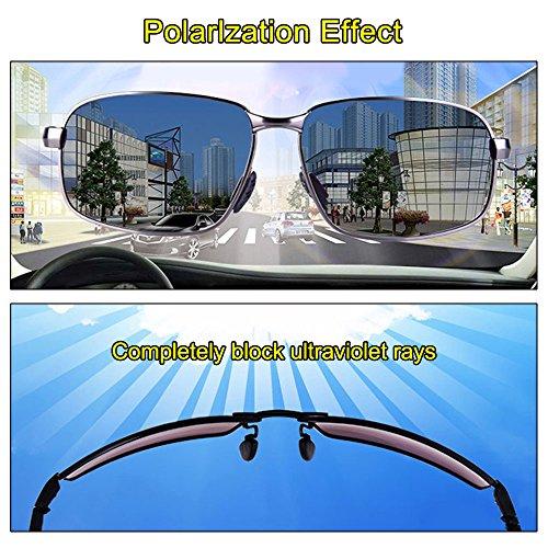 Conducción Al Black Aire Fioretto UV Moda 100 Deportes Para Polarizado Gafas Sol Libre Hombres De Los wPS6wqRZ