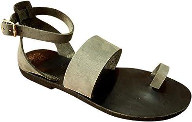 Natural Leather Handmade Sandals Black Gladiator SandalsGreek Ancient SandalsStrappy SandalsWomen/'s Flat Summer Shoes