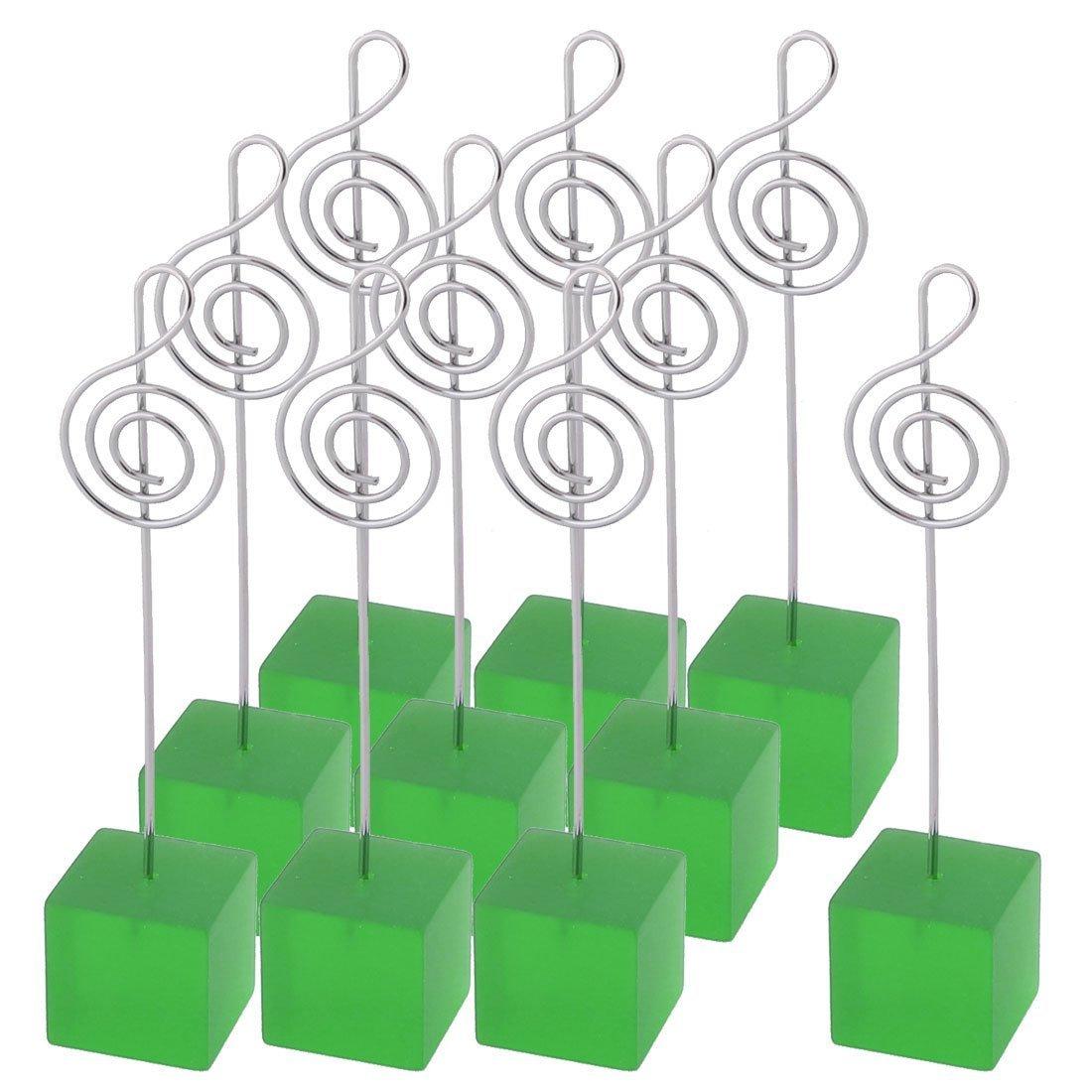 sourcingmap® Resina nozze nota musicale forma decorazioni da tavolo fotografia memo Clip Verde 10 pz. SYNCELEC009373