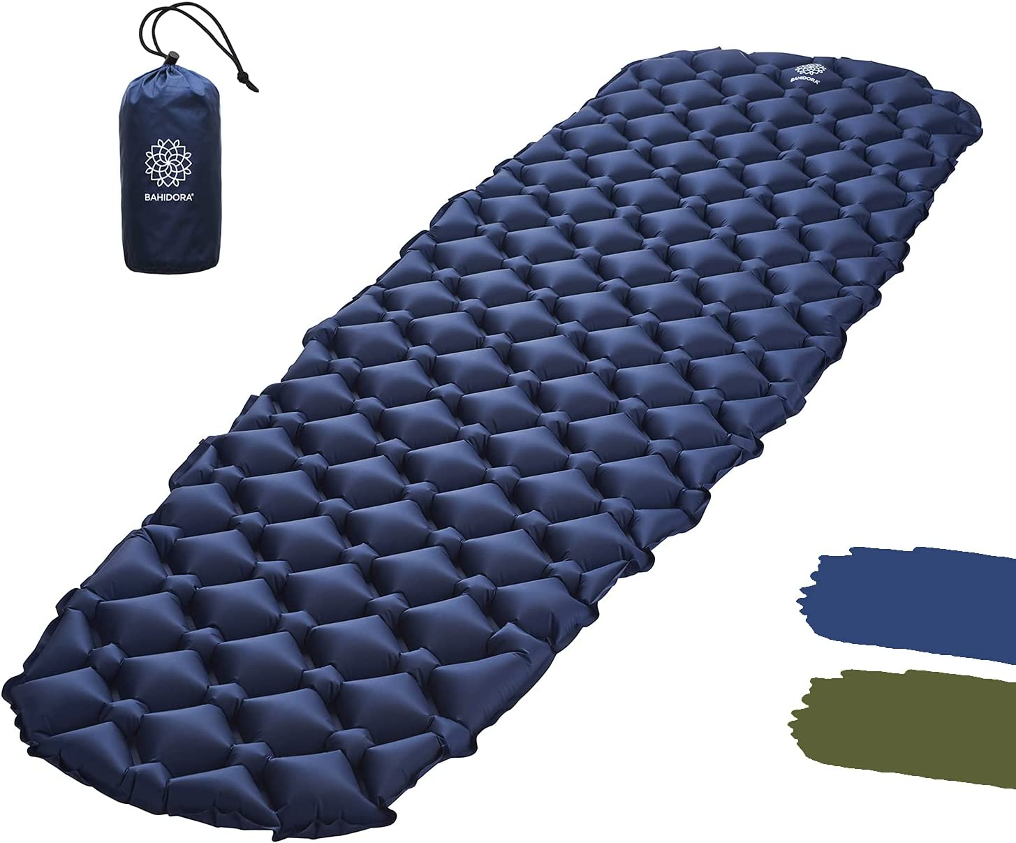 lahomie Isomatte Ultraleichte Campingmatte mit Kissen  aufblasbare Schlafmatte