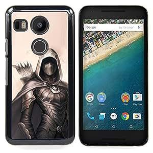 "For LG GOOGLE NEXUS 5X H790 Case , Archer Pintura Negro héroe Beige Flecha"" - Diseño Patrón Teléfono Caso Cubierta Case Bumper Duro Protección Case Cover Funda"