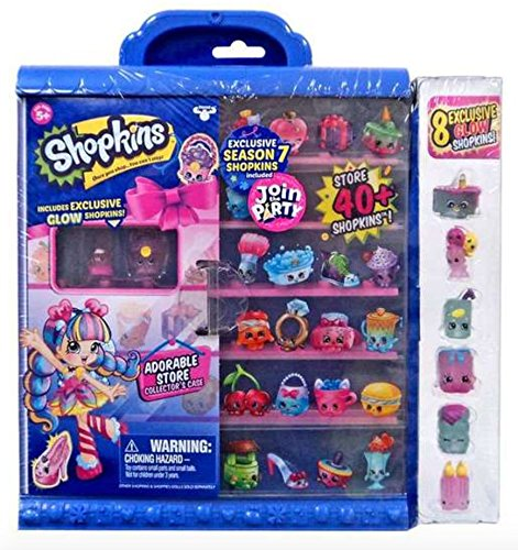 Shopkins Season 7 Join the Party Collector's Case with 8 Exc