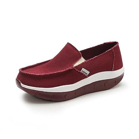 XUEXUE - Zapatillas de lona para mujer con diseño de primavera y otoño, zapatillas de