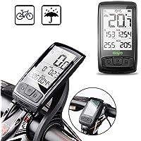 Pawaca GPS computadora de Bicicleta, Bicicleta Odómetro Velocímetro para Bicicleta, Impermeable LCD Retroiluminación Automática Sensor de Movimiento para Bicicleta Accesorios de Ciclismo