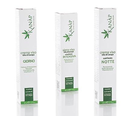 Aceite de Cáñamo, tratamiento facial hidratante, Antirughe, ristrutturante Natural. Para una piel