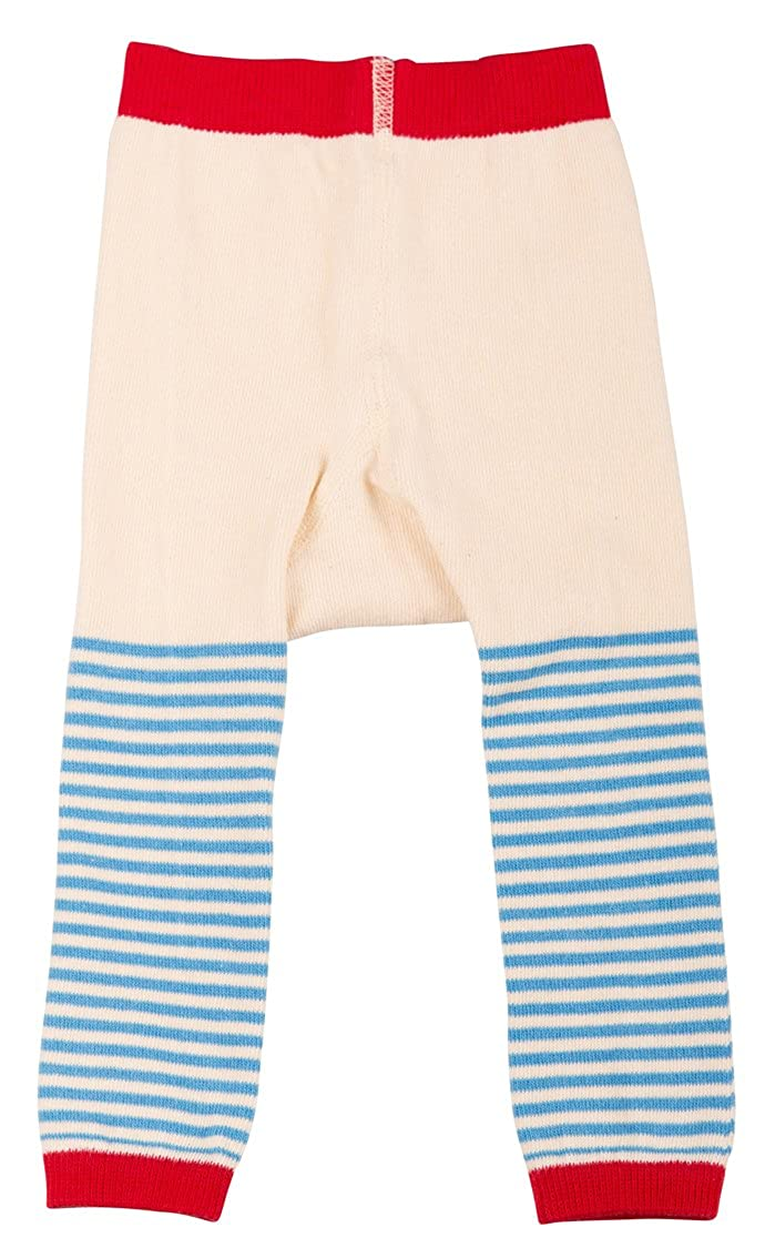 loud + proud Unisex - Baby Legging Legging Gestreift Blau (Sky) 811