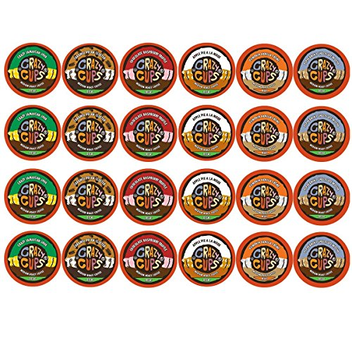 Collection Roasted Java Light 1 (Crazy Cups Decaf Flavor Nation's Selection Single Serve Cups For Keurig K Cup Brewer Variety Pack, 24 Count)